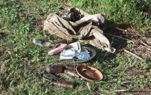 Rubbish items retrieved before a recent Dawn Road Reserve Bushcare revegetation activity