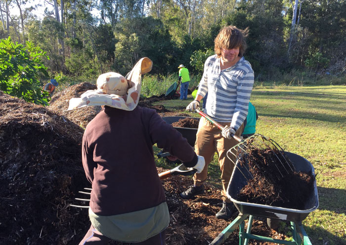 Wild BNE's Christian Perrin pitches in at Dawn Road Reserve Bushcare in July