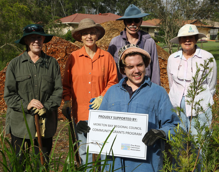 Some of the Dawn Road Reserve Bushcare group whose new revegetation project has been funded by the Moreton Bay Regional Council's Community Grants Program.